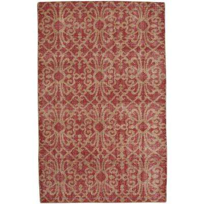 Classic Courtyard Crimson 5 ft. x 8 ft. Area Rug