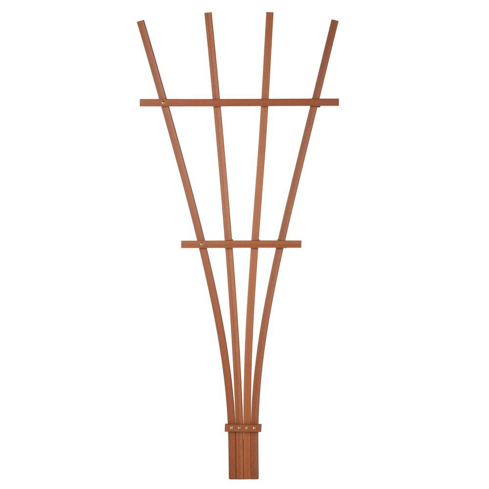 4 ft. Heartwood Composite Foldable Fan Trellis