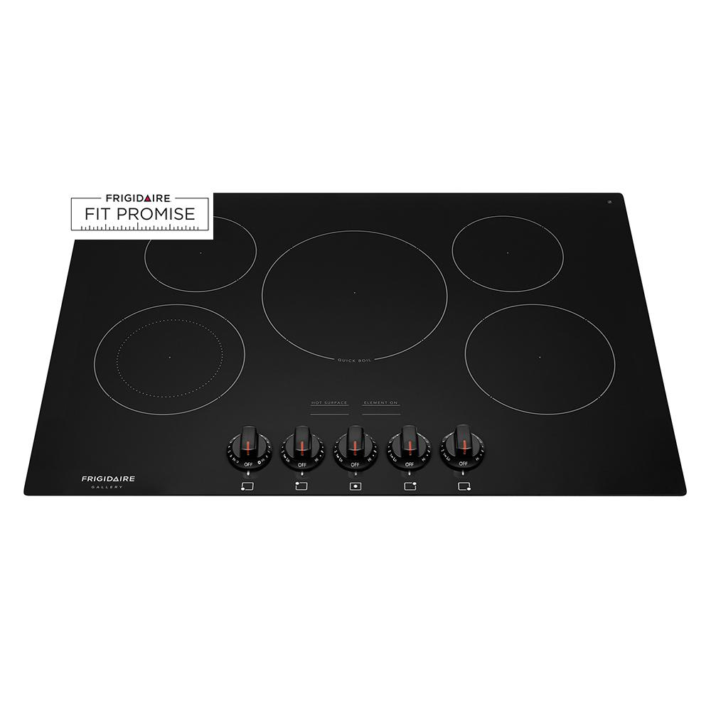 Radiant Electric Cooktop In Black With 5 Elements