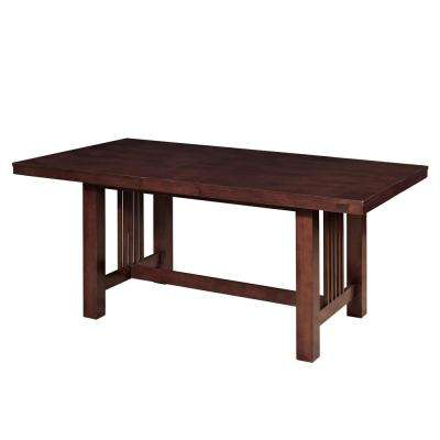Meridian Cappuccino Extendable Dining Table