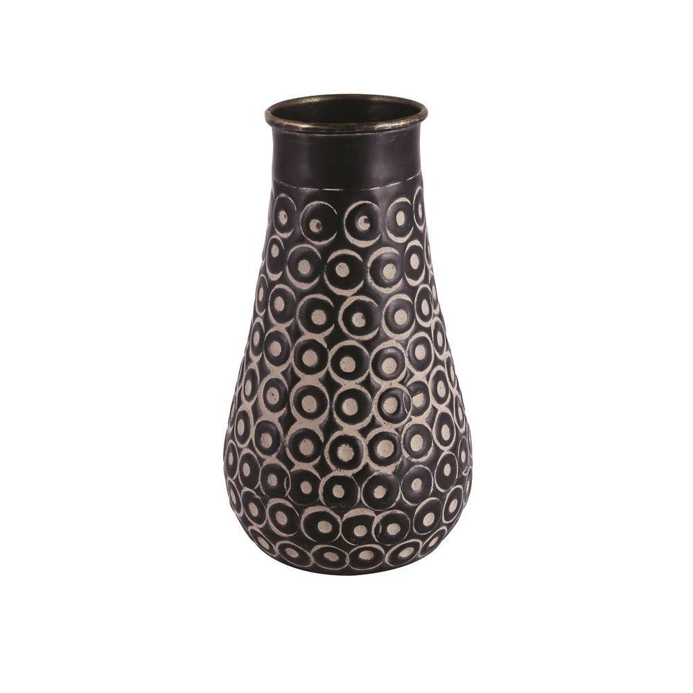 Brimingham 4.5 in. H Decorative Vase in Oxydized Black