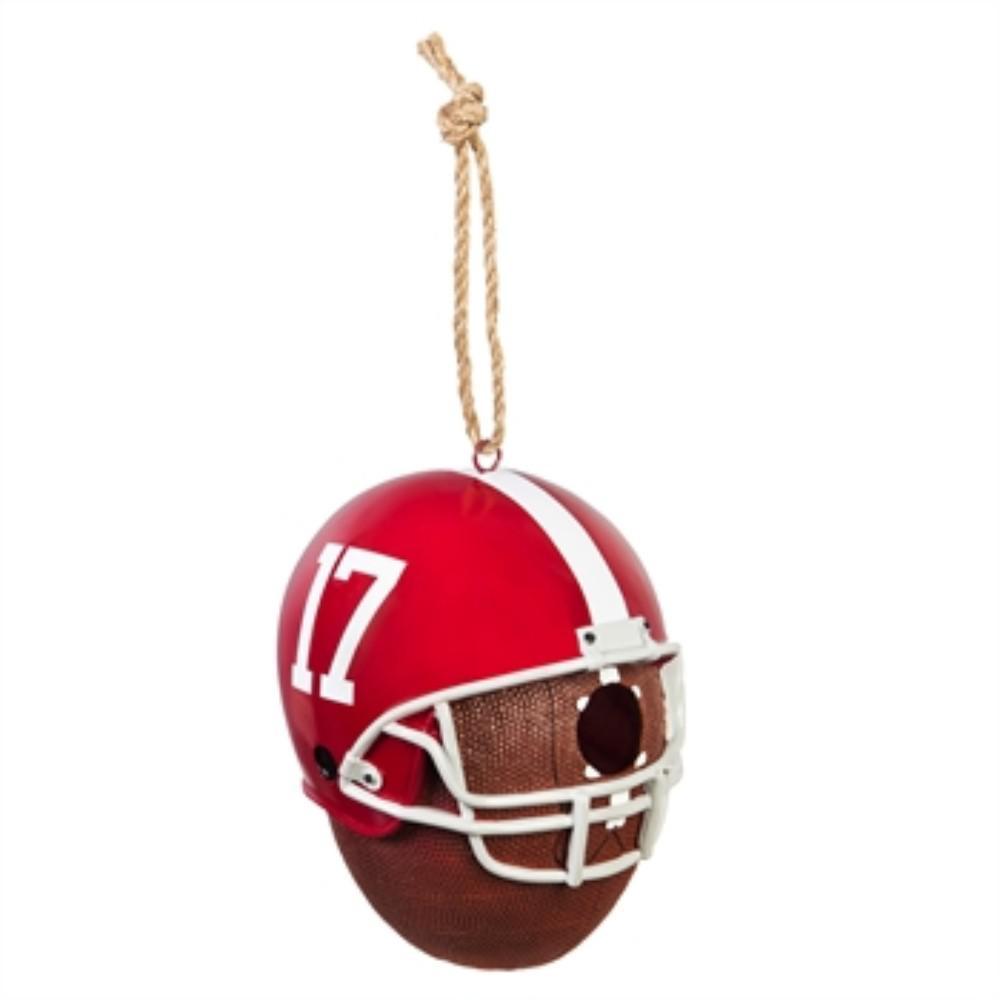 University of Alabama 6.5 in. x 7.5 in. x 8 in. Polystone Hat/Helmet Ball Birdhouse