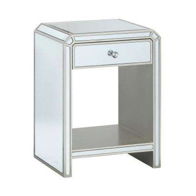 Champagne Reflections 1-Drawer Chairside Cabinet