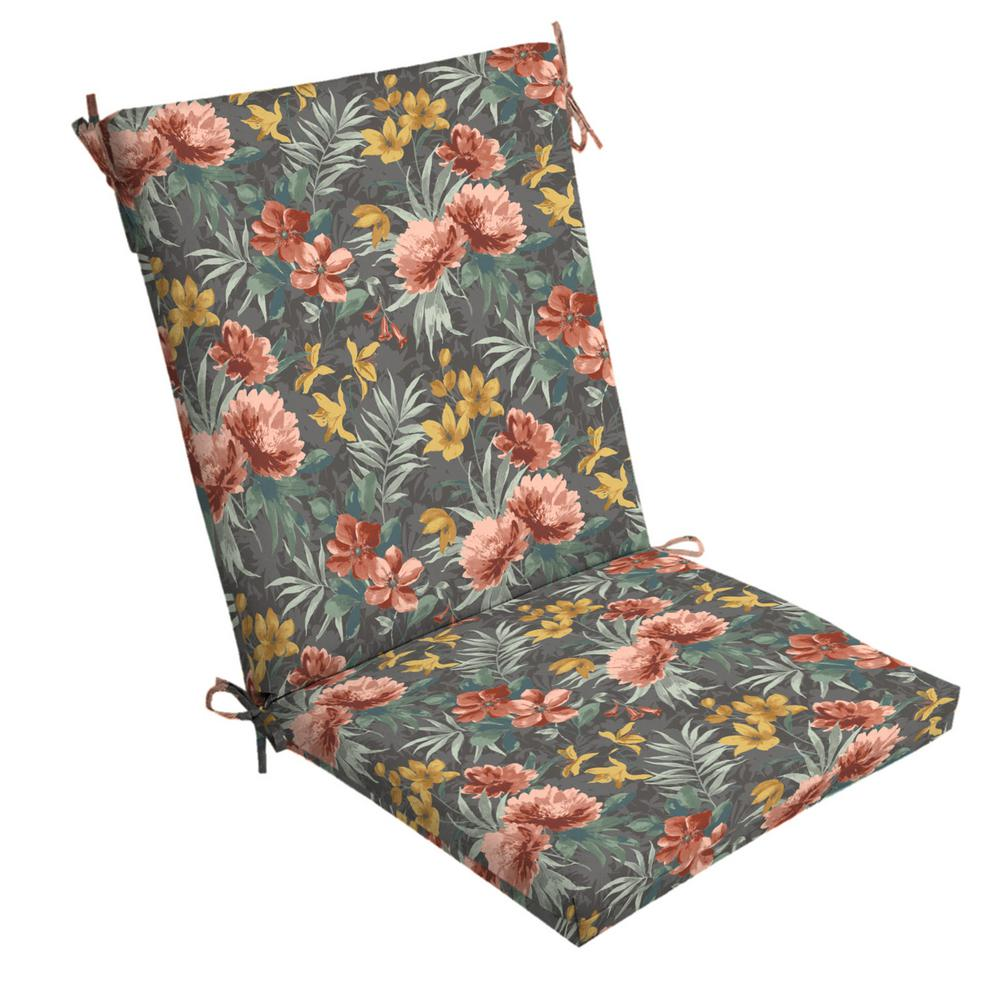 ArdenSelections Arden Selections 20 in. x 24 in. Phoebe Floral Outdoor Chair Cushion