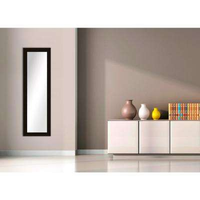 51.5 in. x 15.5 in. Dark Bronze Framed Mirror