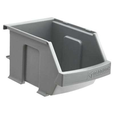 4 in. H x 4.5 in. W x 7 in. D Garage Storage Small Item Gray Plastic Bins for GearTrack or GearWall (3-pack)
