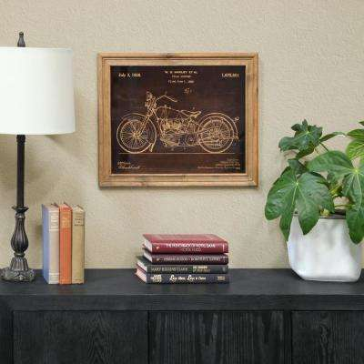 """15.75 in. x 20.75 in. """"1928 Motorcycle Patent Print By William Harley"""" Printed Wall Art"""