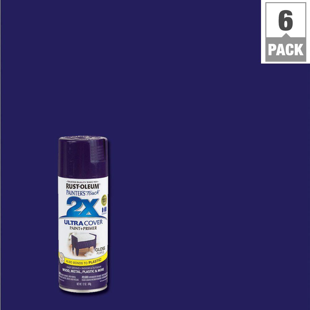 Gloss Purple General Purpose Spray Paint 6 Pack