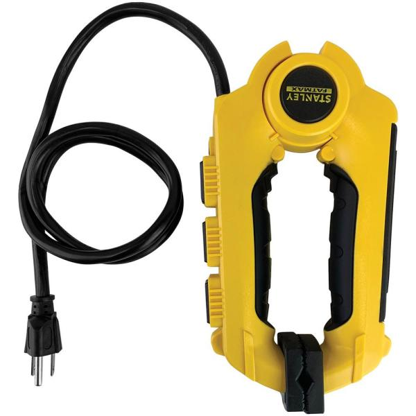 Fatmax Powerclaw 3-Outlet Clamping Power Strip