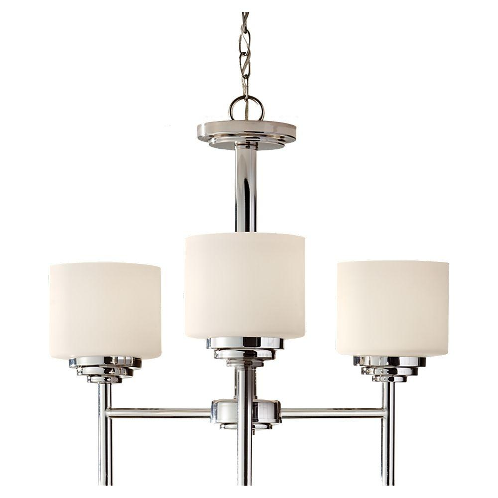 Feiss Malibu Light Brushed Nickel Kitchen Chandelier ShadeF - Nickel kitchen light fixtures