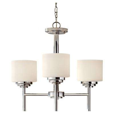 Malibu 3-Light Brushed Nickel Kitchen Chandelier Shade