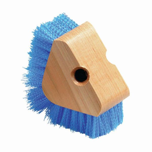 Triangle Floor Baseboard Scrubber with Stiff Blue Polypropylene Bristles (12-Pack)