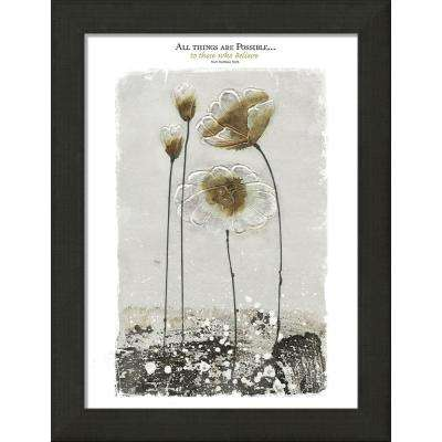 """Modern Home """"All Things Are Possible"""" By Carpentree Framed Canvas"""