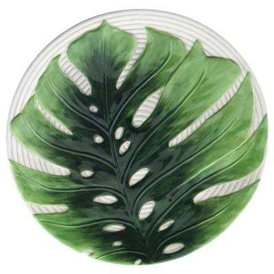 Palm Leaves Green 3-D Embossed Charger Plate