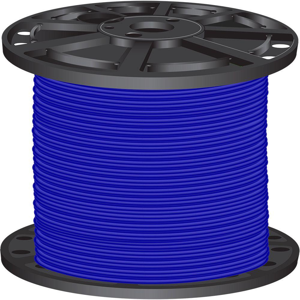 2 0 Wire Electrical The Home Depot Gauge Black Battery Cable 25 Ft Wiring Products 2500 6 Blue Stranded Cu Simpull Thhn