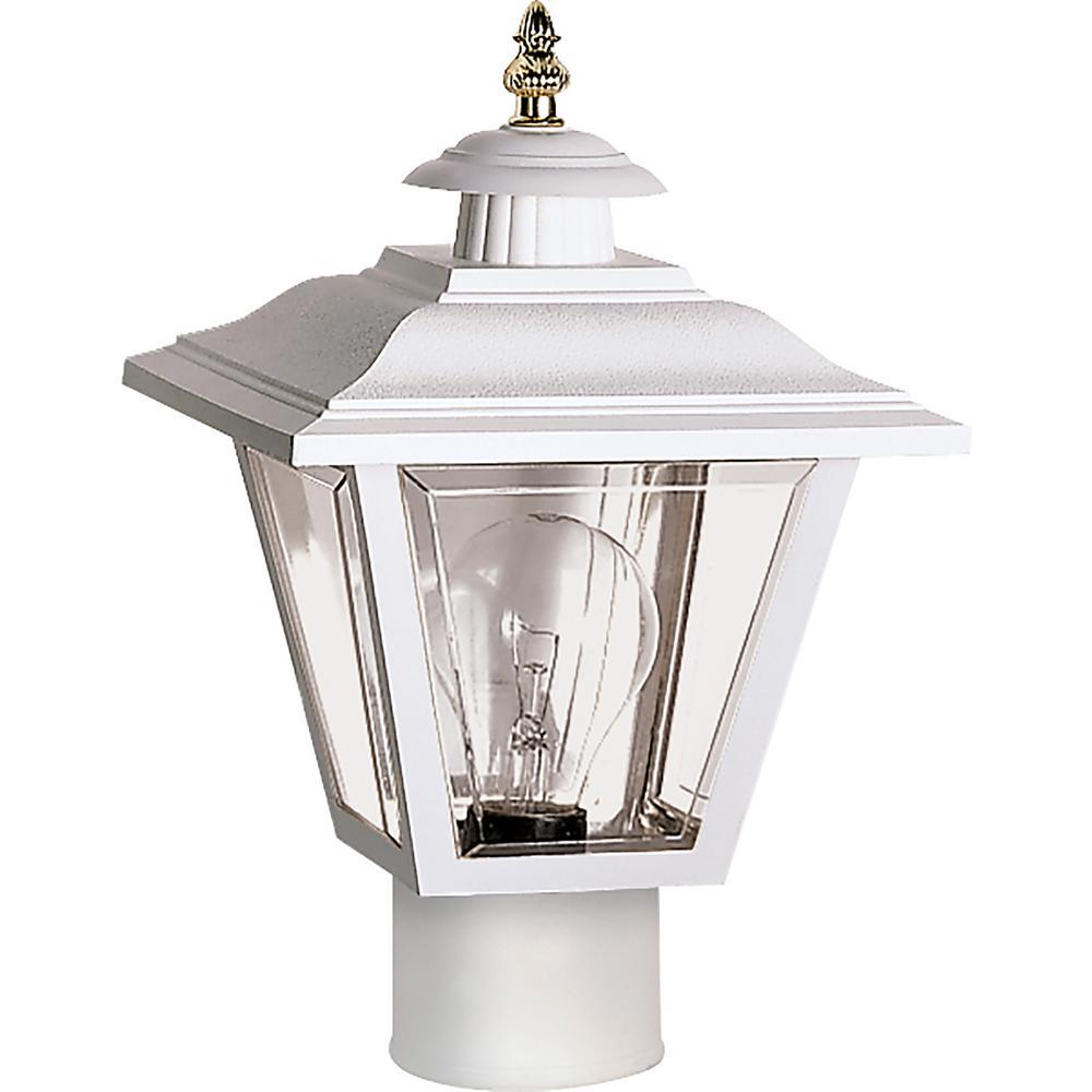William 1-Light Outdoor White Post Light