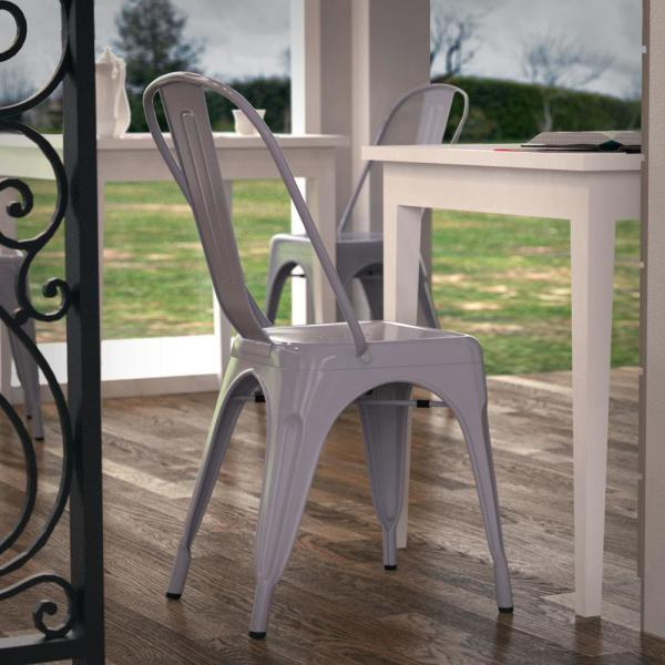 Poly and Bark Trattoria Grey Side Chair (Set of 4) EM-112-GRY-X4