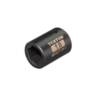 1/2 in. Drive 18 mm 6-Point Shallow Impact Socket