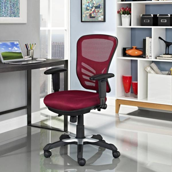 MODWAY Articulate Mesh Office Chair in Red EEI-757-RED