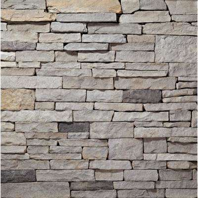 PA Sierra Ledgestone Flats 2 in. to 8 in. x 6 in. x 20 in. Manufactured Stone Ledgestone Flat 10 sf. ft. Pack