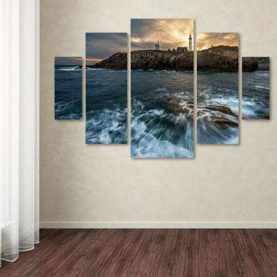 """40 in. x 58 in. """"The Lighthouse"""" by Mathieu Rivrin Printed Canvas Wall Art"""