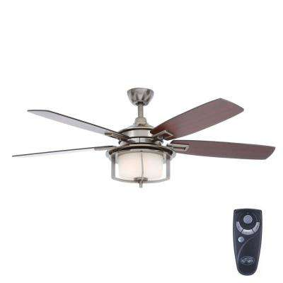 Devereaux II 52 in. Indoor Gunmetal Ceiling Fan with Light Kit and Remote Control