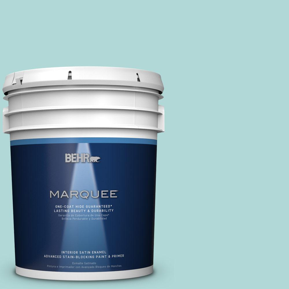 5 gal. #T12-19 Sugar Pool Satin Enamel Interior Paint