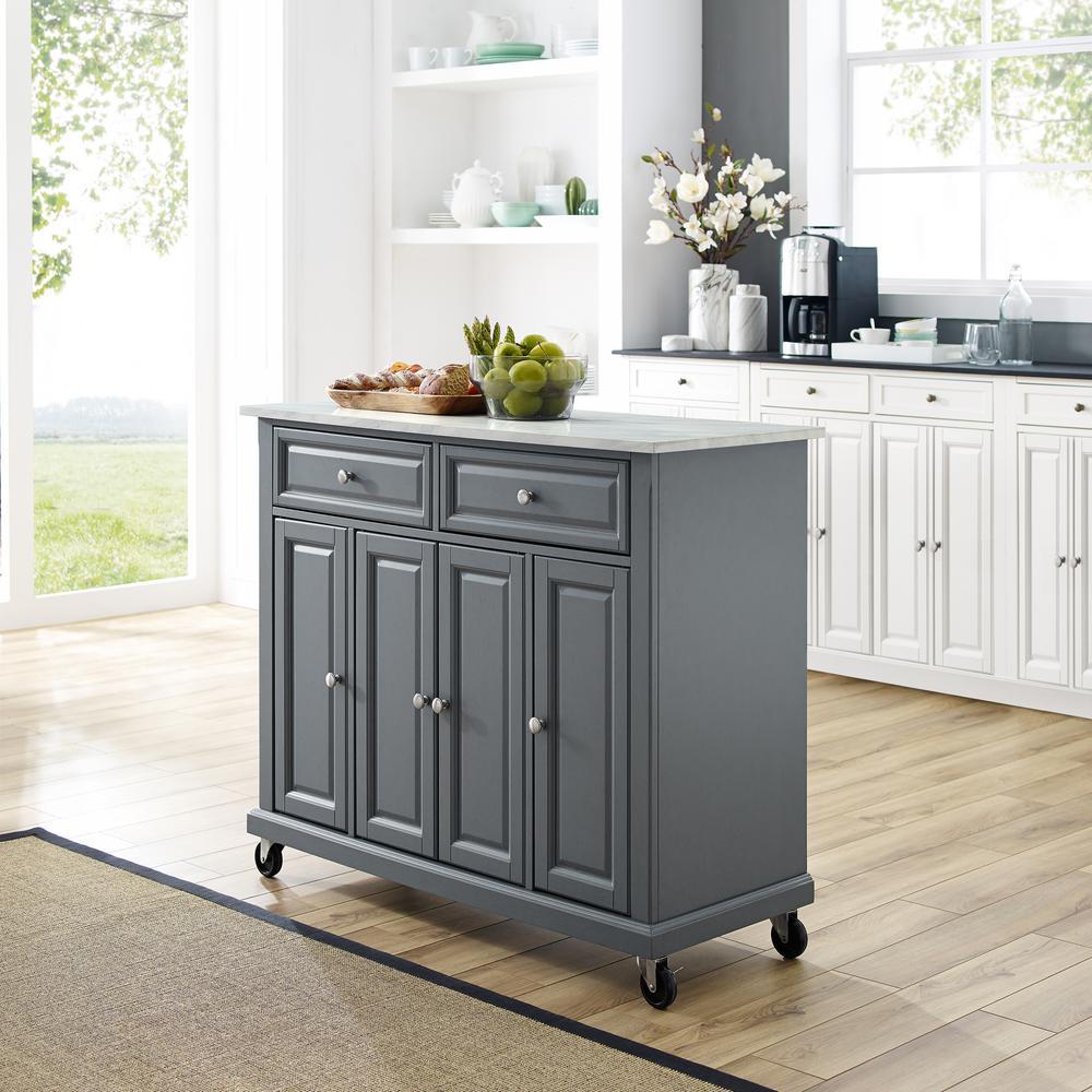 Crosley Avery Grey Kitchen Cart KF30043EGY