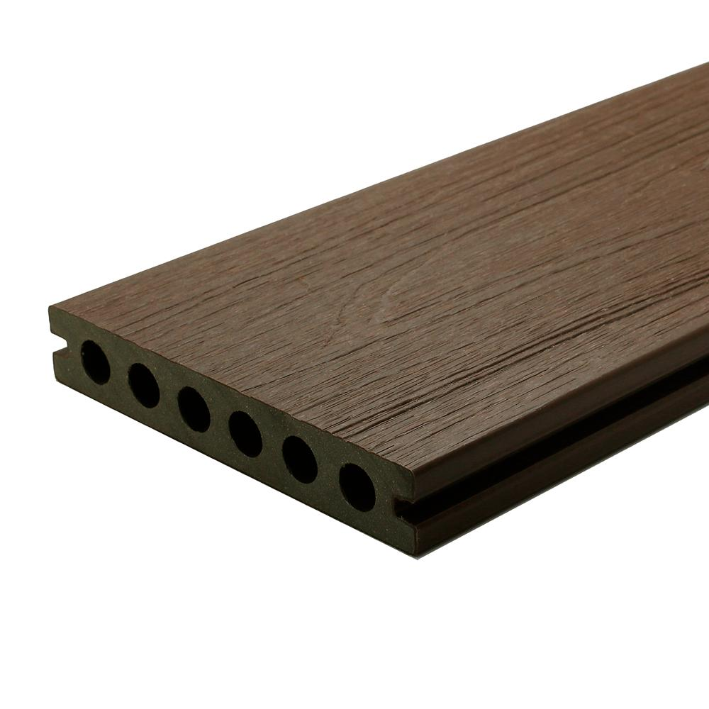 NewTechWood UltraShield Naturale Voyager Series 1 in. x 6 in. x 16 ft. Brazilian Ipe Hollow Composite Decking Board (49-Pack)
