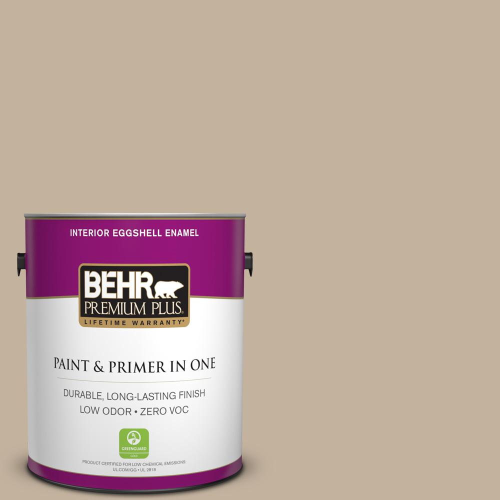 BEHR Premium Plus 1-gal. #BNC-03 Essential Brown Eggshell Enamel Interior Paint