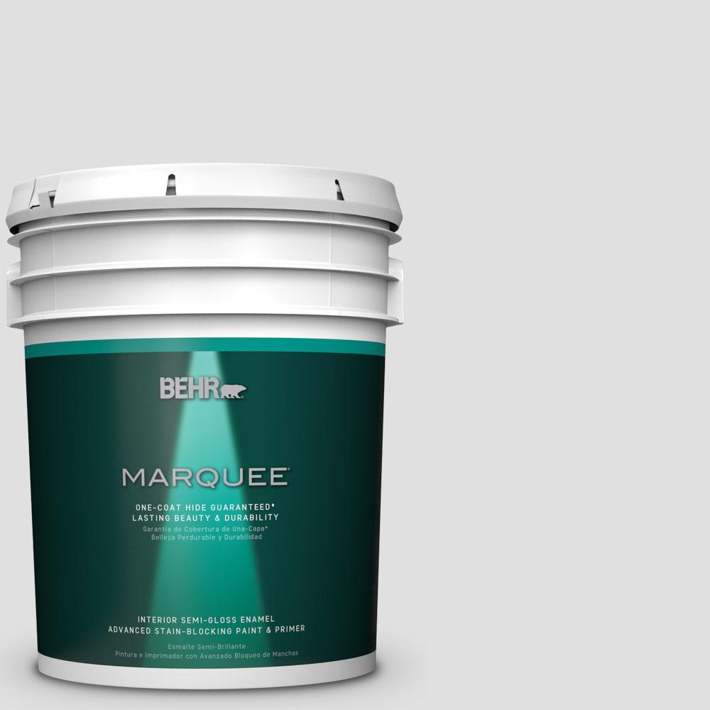 5 gal. #MQ3-55 White Lie One-Coat Hide Semi-Gloss Enamel Interior Paint