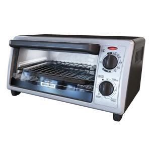 Black & Decker 4-Slice Black and Stainless Steel Toaster Oven by BLACK+DECKER