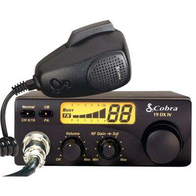 Compact 40-Channel 4-Watt CB Radio with RF Gain