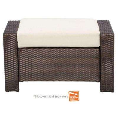 Beverly Patio Ottoman with Cushion Insert (Slipcovers Sold Separately)
