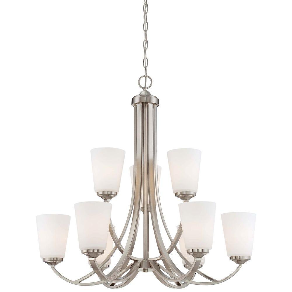Minka lavery overland park 9 light brushed nickel chandelier 4969 84 minka lavery overland park 9 light brushed nickel chandelier arubaitofo Choice Image