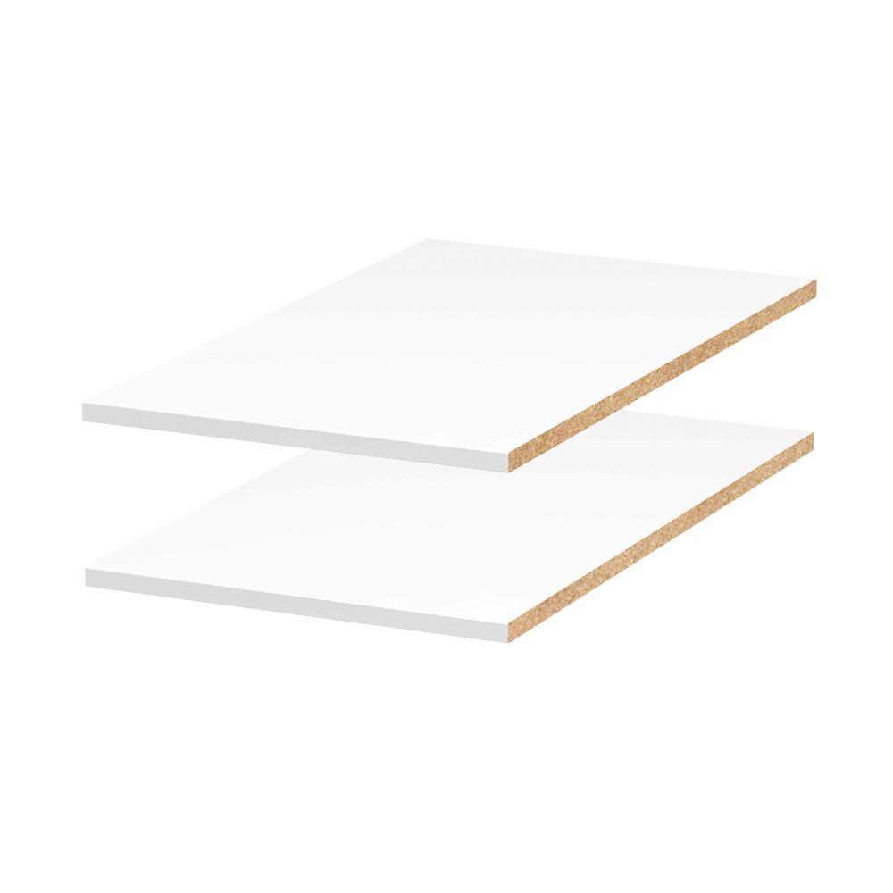 15 in. x 0.75 in. x 24 in. Melamine Adjustable Shelf