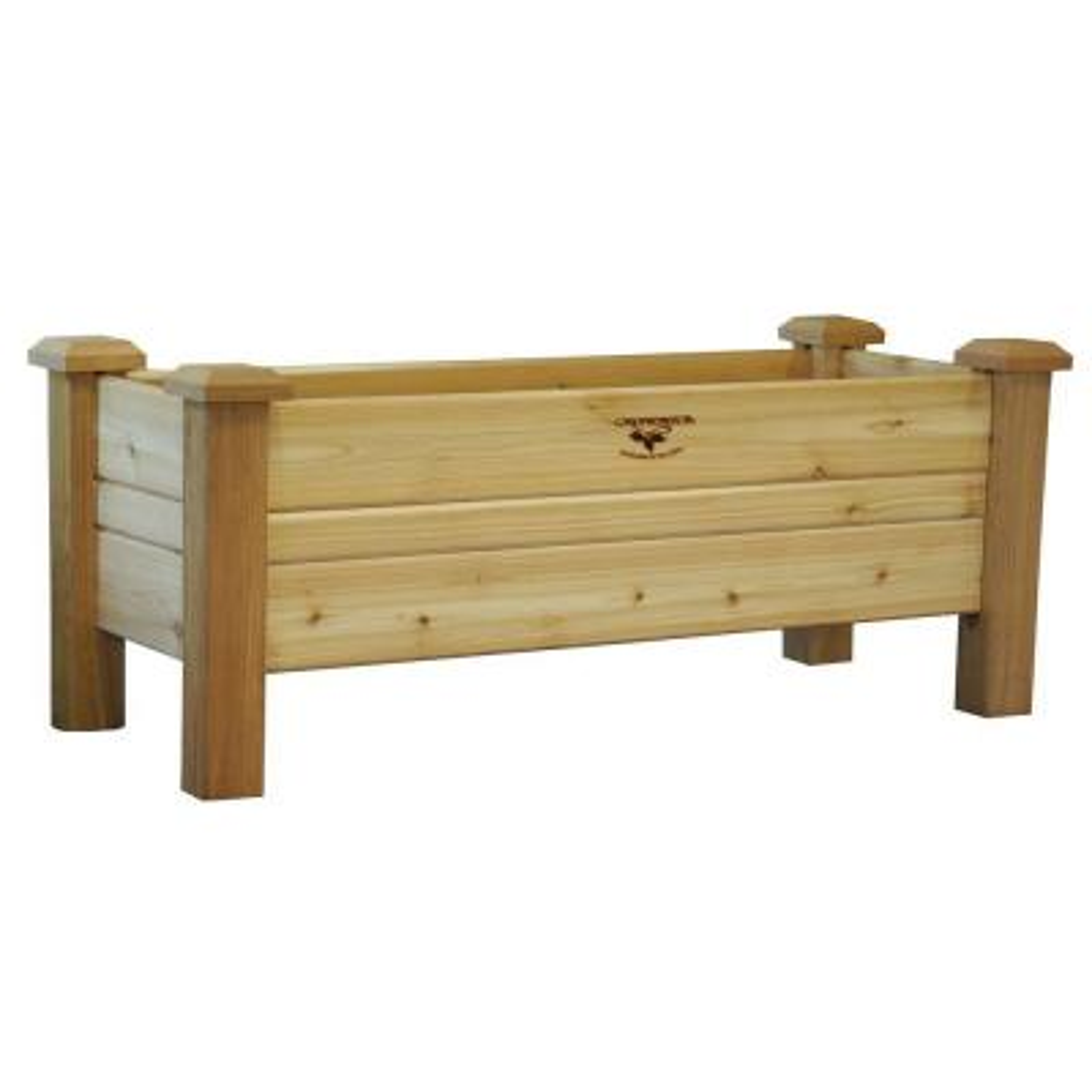 48 in. x 18 in. Unfinished Cedar Planter Box