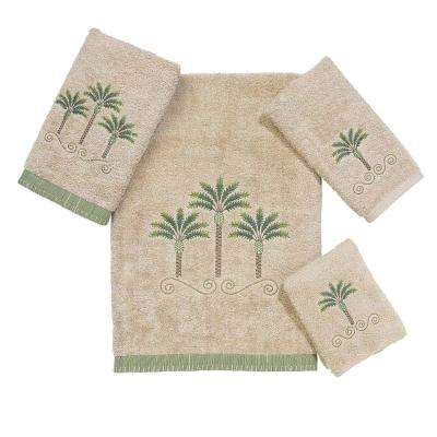 Premier Palm Beach 4-Piece Bath Towel Set in Linen