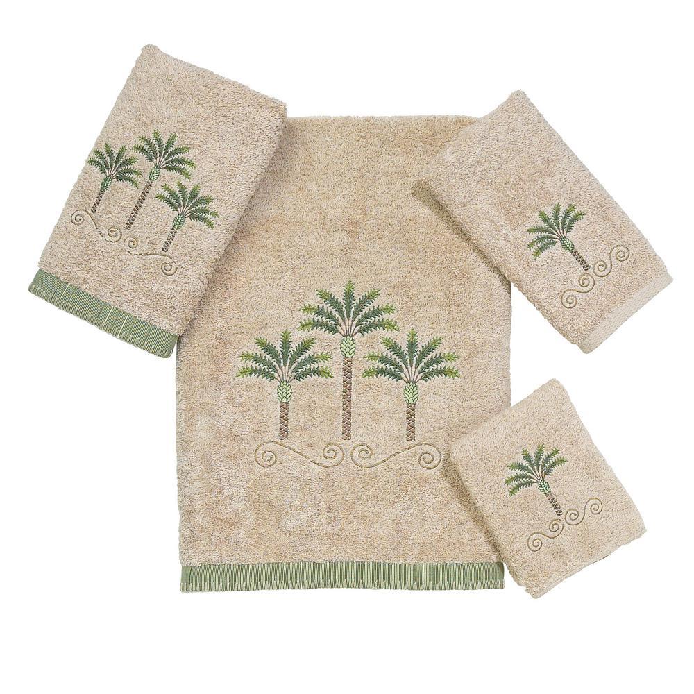Premier Palm Beach 4-Piece Bath Towel Set in Linen