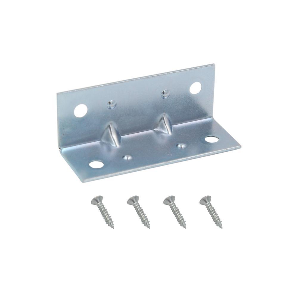 Everbilt 2 in. Zinc-Plated Inside Corner Brace (4-Pack)