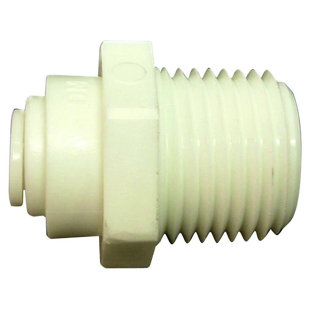 null Quick Connect 1/4 in. Plastic O.D. x 3/8 in. MIP Adapter