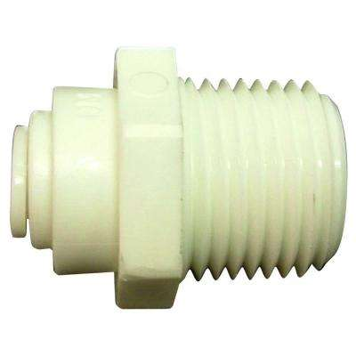 Quick Connect 1/4 in. Plastic O.D. x 3/8 in. MIP Adapter