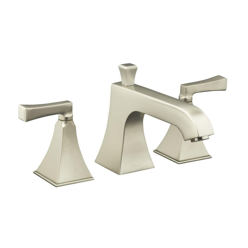 KOHLER Memoirs 2-Handle Low Arc Bath Faucet Trim Only in Vibrant Brushed Nickel (Valve Not Included)