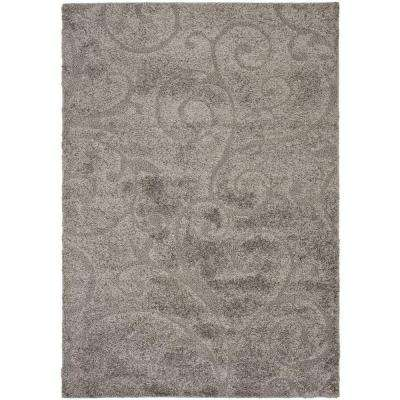Florida Shag Gray 9 ft. 6 in. x 13 ft. Area Rug