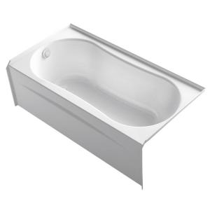 Kohler Submerse 5 Ft Right Drain Soaking Tub In White K