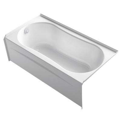 Submerse 5 ft. Right Drain Soaking Tub in White