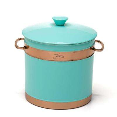 3 Qt. Turquoise Stainless Steel Ice Bucket