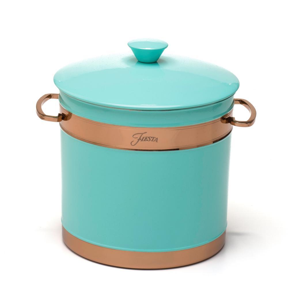Fiesta 3 Qt. Turquoise Stainless Steel Ice Bucket 9222IBDS
