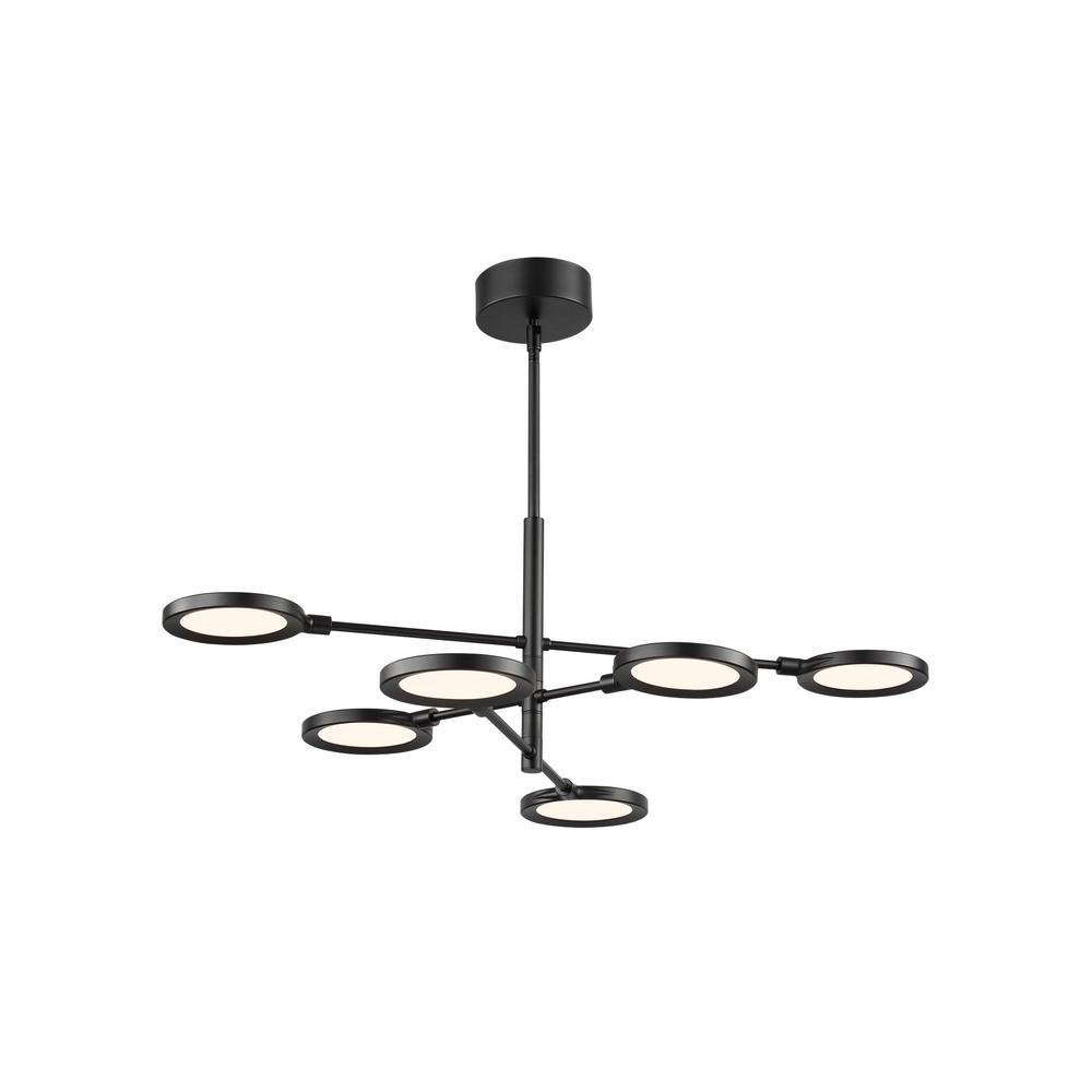 Spectica 43.2-Watt Black Integrated LED Chandelier