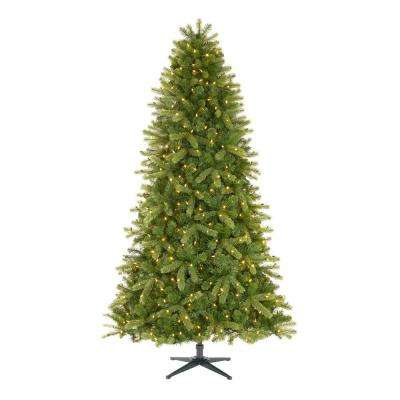 7.5 ft Manchester White Spruce LED Pre-Lit Artificial Christmas Tree with 500 SureBright Color Changing Lights